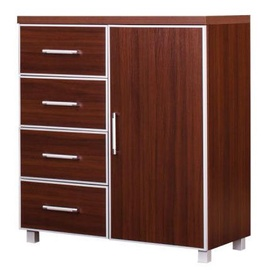 Bodzio Bodziosystem BS28 Chest Of Drawers Walnut