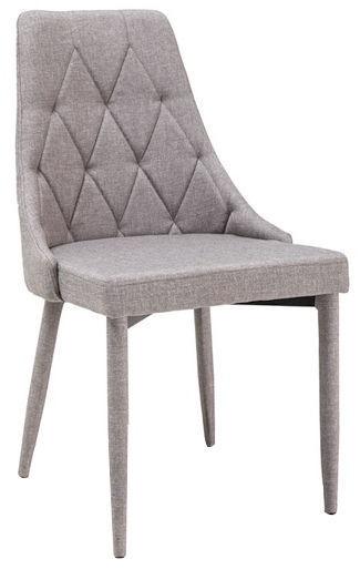Valgomojo kėdė Signal Meble Trix Grey, 1 vnt.