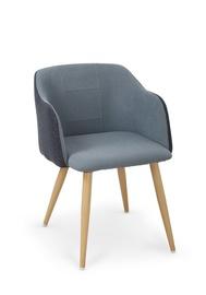 Kėdė Halmar K-288, mėlynos ir medžio spalvų