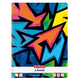 Kaustik Herlitz Neon Art 50027880, ruuduline, A4, 80 lehte