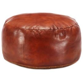 Пуф VLX Goat Leather 248138, коричневый, 60 см x 60 см x 30 см