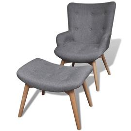 Tugitool VLX Armchair With Footstool 241673, hall, 68.5 cm x 57 cm x 87.5 cm