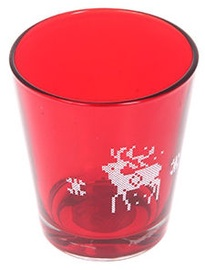 Verners Candle Holder 9x10cm Red