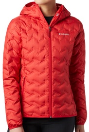 Columbia Delta Ridge Down Hooded Womens Jacket 1875932658 Red Lily L