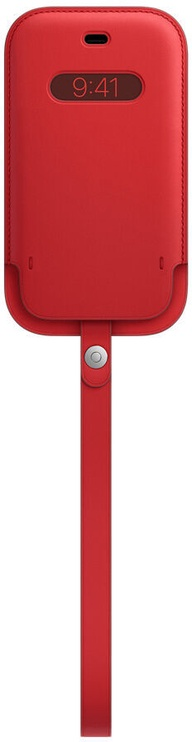 Чехол Apple iPhone 12 mini Leather Sleeve with MagSafe, красный
