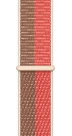 Ремешки Apple 41mm Pink Pomelo/Tan Sport Loop - Regular, коричневый/розовый