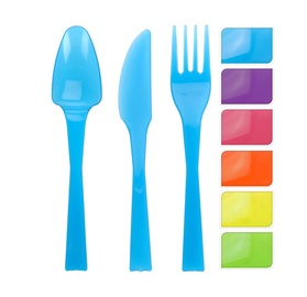 Plastikiniai stalo įrankiai, 18 vnt