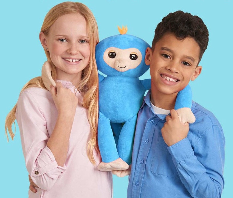 Fingerlings Plush Monkey Hugs Boris Blue 3531