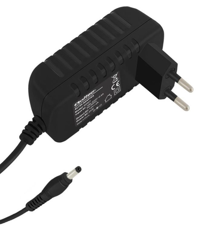 Qoltec AC Adapter 5.5 x 2.1 / Euro Black 1.4m