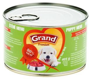 Koncervuotas ėdalas šunims Grand Premium Puppy Menu, su jautiena ir vištiena, 405 gr.
