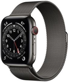Išmanusis laikrodis Apple Watch Series 6 GPS LTE + Cellular, 44mm Stainless Steel Graphite Milanese Loop, juoda