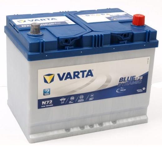 Аккумулятор Varta Blue Dynamic EFB N72, 12 В, 72 Ач, 760 а
