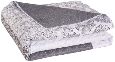 DecoKing Alhambra Bedcover White/Grey 200x220