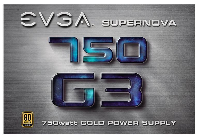 EVGA Power Supply PSU 750W 80 PLUSGold