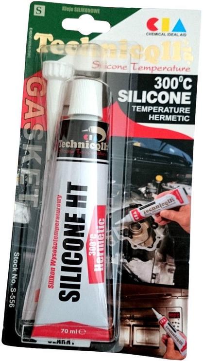 Жидкий герметик Technicqll High Temperature Silicone 300° Temperature Hermetic Black 70ml