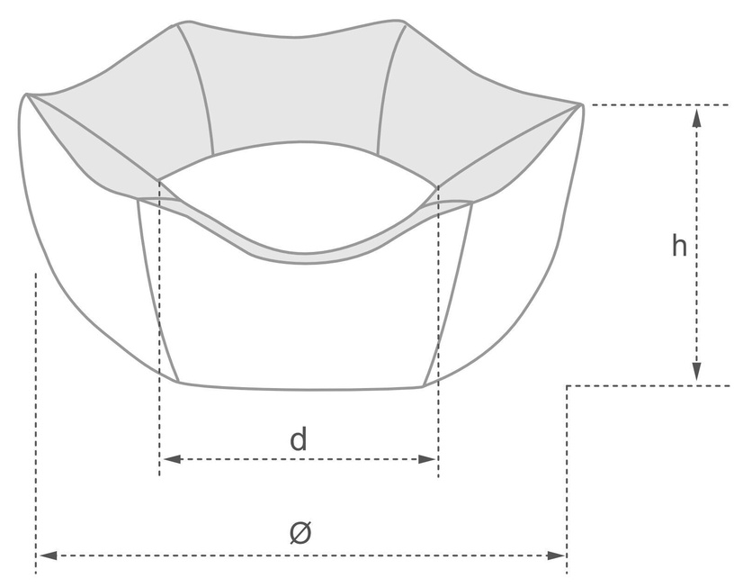 Лежанка Amiplay Babydoll Crown Bed L 68x23cm Gray