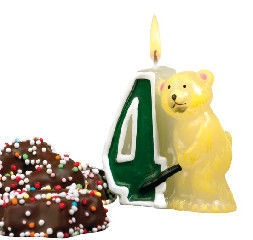 Herlitz Numeral Candle Bear 4
