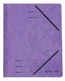 Herlitz 3-Flap File With Elastics A4 Colorspan Purple