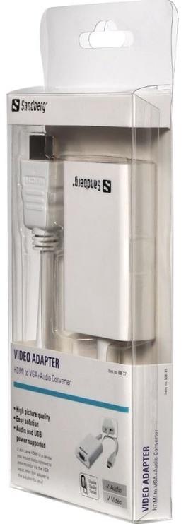 Адаптер Sandberg Adapter HDMI to VGA+Audio Converter