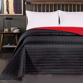 Lovatiesė DecoKing Salice Black/Red, 260x240 cm