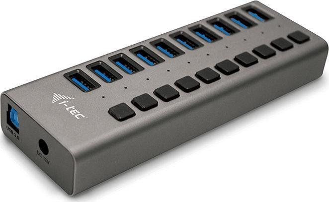i-Tec USB 3.0 10-Port Hub + Power Adapter 48W