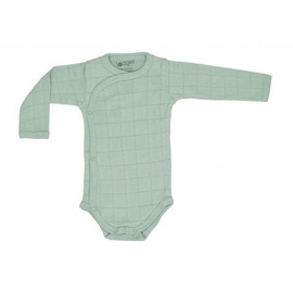 Lodger Romper Solid Body With Long Sleeves Silt Green 68cm