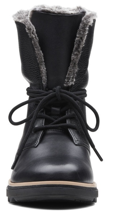 Clarks 261363654 Sharon Pearl Leather Boots Black 41