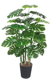Home4you Monstera Artificial Plant In Pot H120cm Green