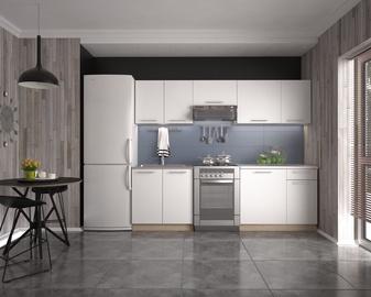 Virtuvinių spintelių komplektas Daria 240, balta /ąžuolo