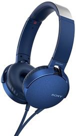 Ausinės Sony MDR-XB550AP Extra Bass Blue