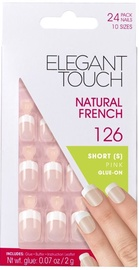 Elegant Touch Natural French 126 Short Pink