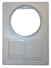 Ventilācijas reste ar adapteru Plaskanta D125, balta