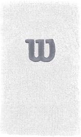 Wilson Extra Wide W Wristband White