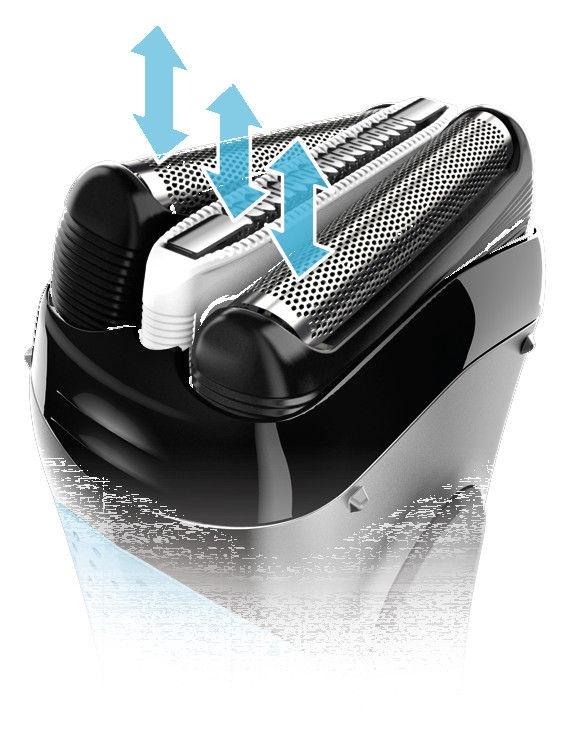 Skuveklis Braun ProSkin 3040S, akumulatora, ar trimmeri