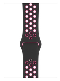 Apple 44mm Black Pink Blast Nike Sport Band S/M & M/L