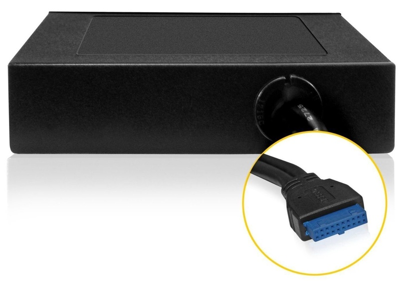 RaidSonic Icy Box 3,5'' Card Reader with Multiport Panel USB 3.0