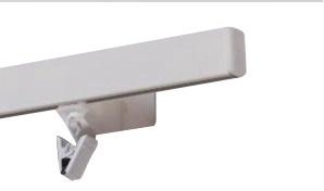 Aliuminis karnizo bėgelis su kabliukais, 1 griovelis, 160 cm