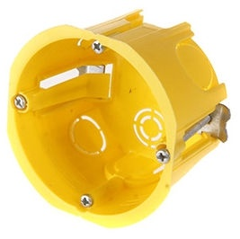 Schneider Electric Mounting Box For Plasterboard Yellow