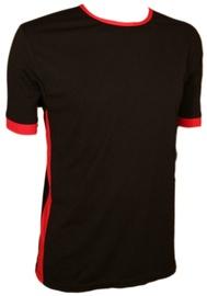 Bars Mens T-Shirt Black/Red 167 L