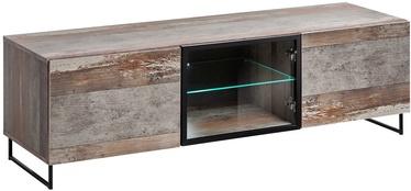 TV staliukas ASM RTV Plank Wood/Black, 1500x450x440 mm