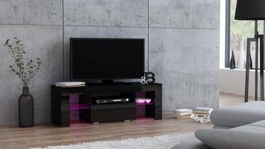 TV staliukas Pro Meble Milano 110 Black, 1100x350x450 mm