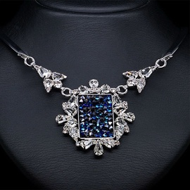 Diamond Sky Necklace Crystal Mosaic With Swarovski Crystals