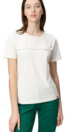 Audimas Womens Cotton Tee With Print White XS