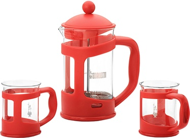 Kafijas kanna Bialetti Set Coffee Press and Mugs Red