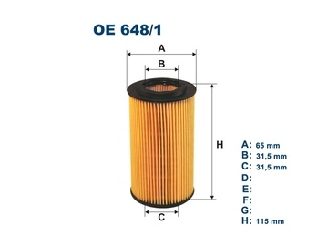 Automobilių tepalo filtras Filtron OE 648/1
