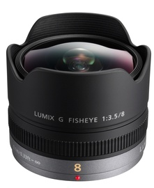 Panasonic Lumix G Fisheye 8mm F3.5 Lens Black