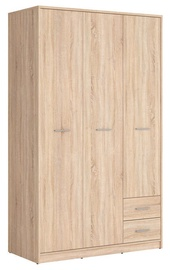 Black Red White Nepo Large Wardrobe Sonoma Oak