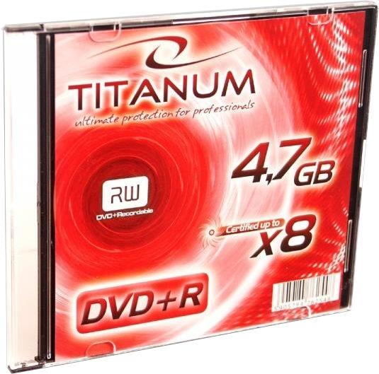Esperanza 1080 Titanum DVD+R 8x 4.7GB Slim Jewel Case 200pcs
