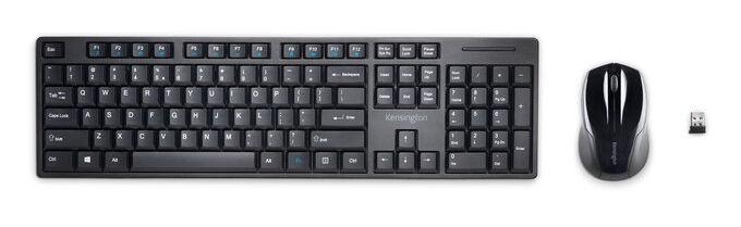 Kensington Pro Fit Low-Profile Wireless Desktop Set Black