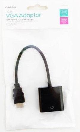 OMEGA HDMI to VGA Adaptor Black
